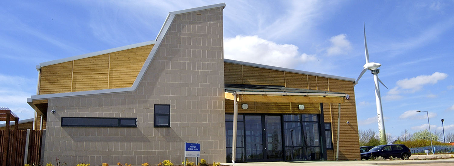 External photograph of the Plowright Surgery Sustainable Building of the Year